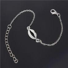 Srebrny biżuteria bransoletka męska biały złoty kolor Trendy 2016 nowy Link bransoletki i łańcuszki na rękę bransoletka dla kobiet Femme NS210(China)