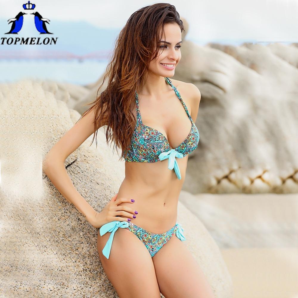 bikini push up bikini Swimwear swimsuit Women Padded Boho biquinis Bikini Set New Swimsuit Lady Bath