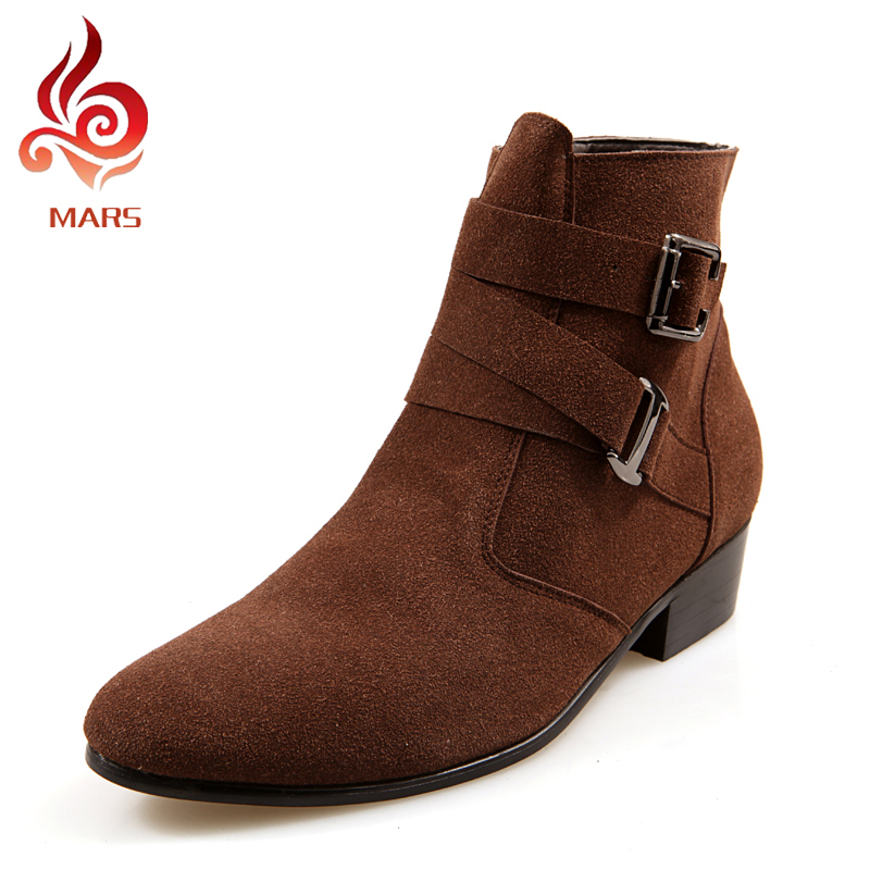 2015 Men Winter Boots Fashion Shoes Casual Suede New Style Ankle Pointed Toe Warm Size:39-44 JL512 - Mars House store