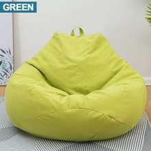 Lazy BeanBag Sofas Cover Chairs without Filler Linen Cloth Lounger Seat Bean Bag Pouf Puff Couch Tatami Living Room Furniture(China)
