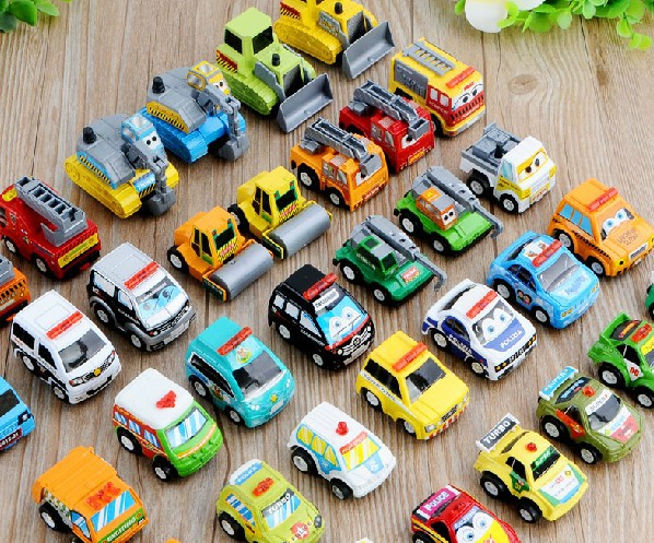 free shipping (24pieces/lot) cute and lovely racing police cars toy mini cars for kids micro cars for sale(China (Mainland))