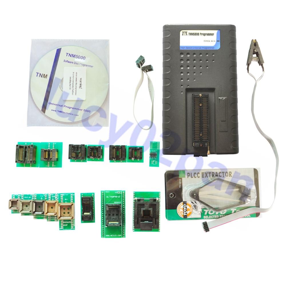 TNM5000 avr pic Eprom Programmer recorder+15pcs IC adapters+IC Clip,Laptop/notebook bios Repair,support nand flash/FPGA/ISP/JTAG(China (Mainland))