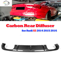 S3 carbon fiber rear diffuser for audi S3 Sedan 2014 2015 2016 auto racing car styling