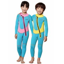 Free Shipping Neoprene Keep Warm Long-Sleeved Diving suits Wetsuit For Children 2.5mm Kids Swimwear Child Boys Girls Diving Suit(China (Mainland))