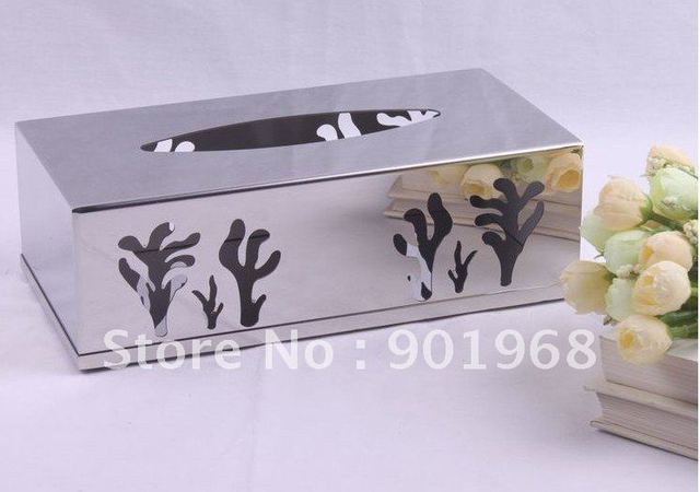 stainless steel tissue box-napkin box-paper box-tissue holder-napkin holder