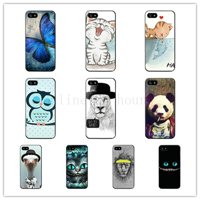 new Styles cute catoon anamal Case For Apple iPhone 5 5S 5G Hard Back Skin Phone Case Protector(China (Mainland))