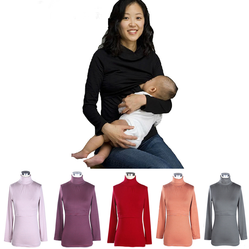 Гаджет  3 color NEW2014 V-neck O-neck and Turn-down Neck designed nursing clothes sweater maternity thermal tops for Pregnant women None Детские товары