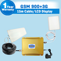 GSM 3G Amplifier LCD Display 65dB Gain GSM 900mhz 3G WCDMA 2100mhz Dual Band Booster Mobile