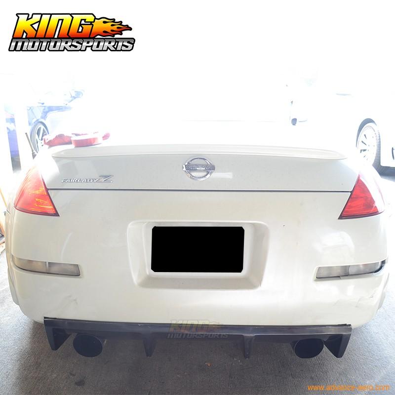 Rear Bumper Diffuser Spoiler Lip Compatible with 2003-2007 Nissan 350Z Z33 Fairlady