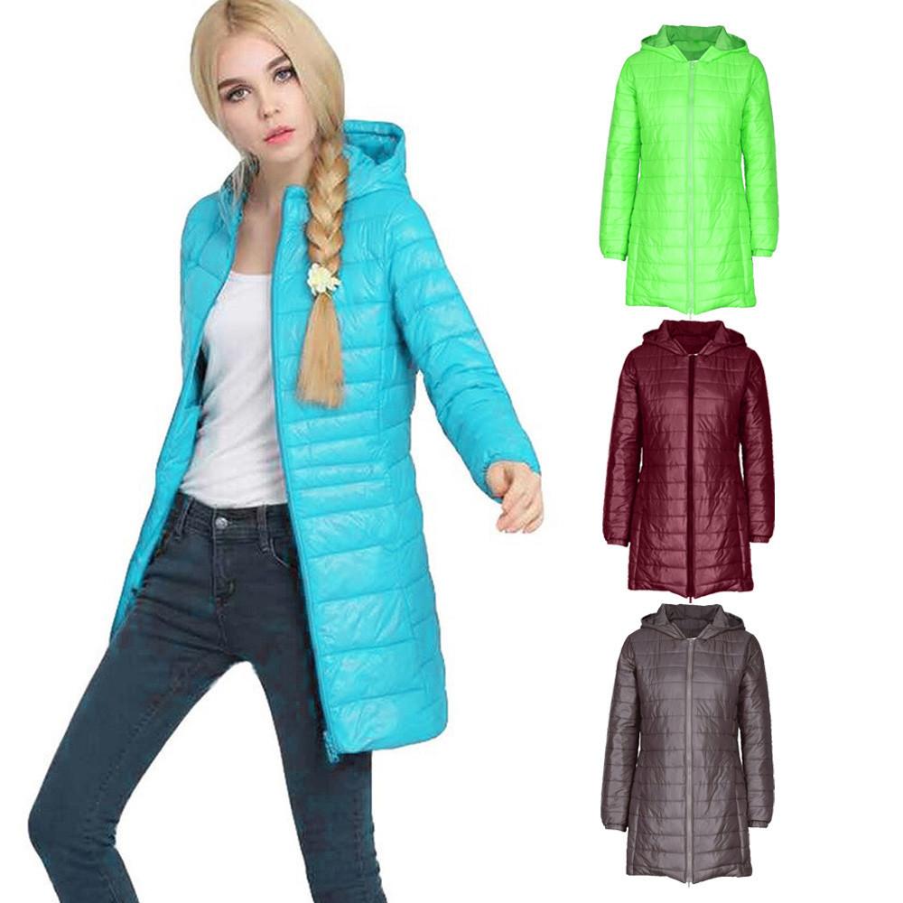 Hot Sale Women Coat Echo657 New Fashion Women Winter Coat Lady Ultra Light Slim Hooded Coat Parkas CoatDec 14