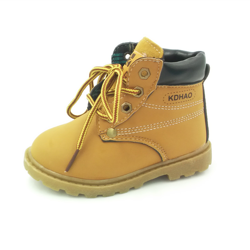 2016 fashion new child snow boots shoes boys leather