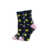 Yeadu meias femininas de algodão japonês colorido dos desenhos animados bonito engraçado feliz kawaii crânio estrangeiro abacate meias para o presente de natal da menina(China)