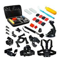 GoPro Accessories Set 16 in 1 Large Case Helmet Harness Chest Belt Head Mount Strap Monopod For Hero 2 3 3+ 4 sj4000 xiaomi yi