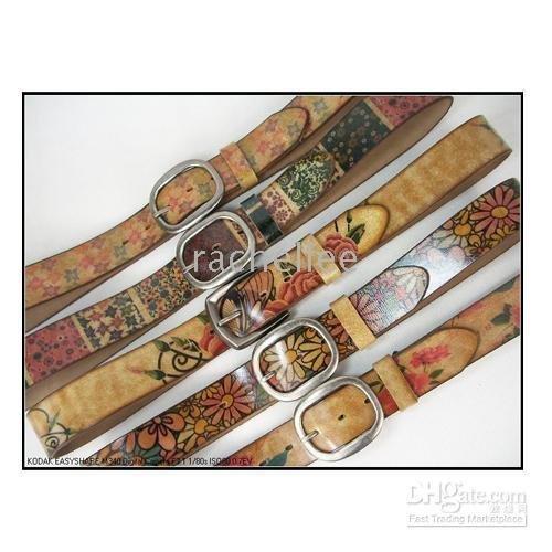 women jeans belts,Ladies leather waist belts Antique classic daisy design waist belts,