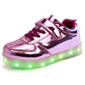 2016 New Spring Summer Children USB Colorful Flash Charging Luminous Shoes Led Light Shoes For Kids