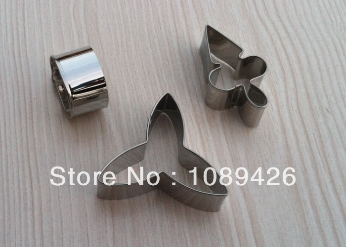 Cake Decorating Tools,3pcs/set Stainless Steel Moth Orchid Candy Biscuit Jelly Fondant Cookie Cutters - Yu Yu's store