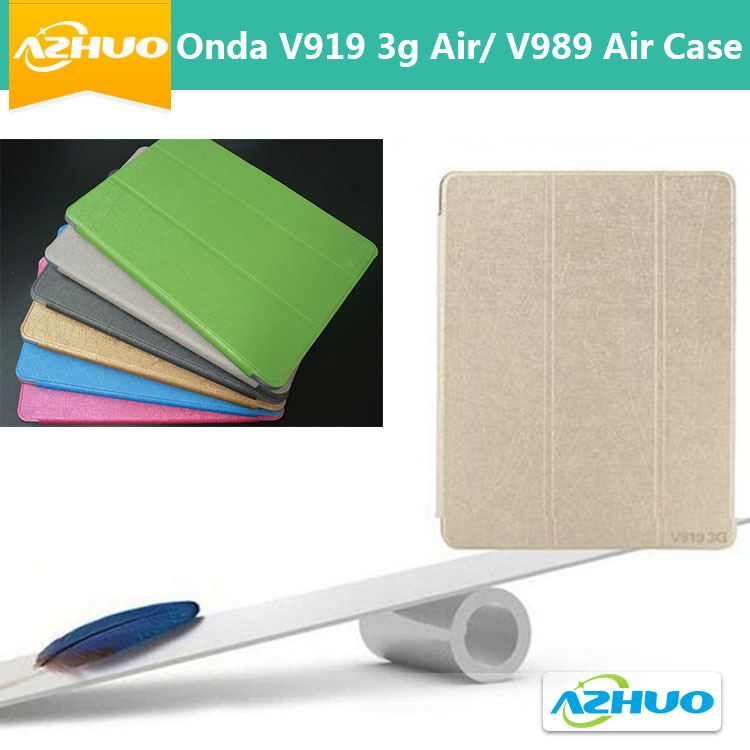 Onda V989 Air Tablet pc protective cover, Onda V919 3G Air Dual Boot Case,Ultra-thin Leather case For 9.7inch Onda V989 air+gift(China (Mainland))