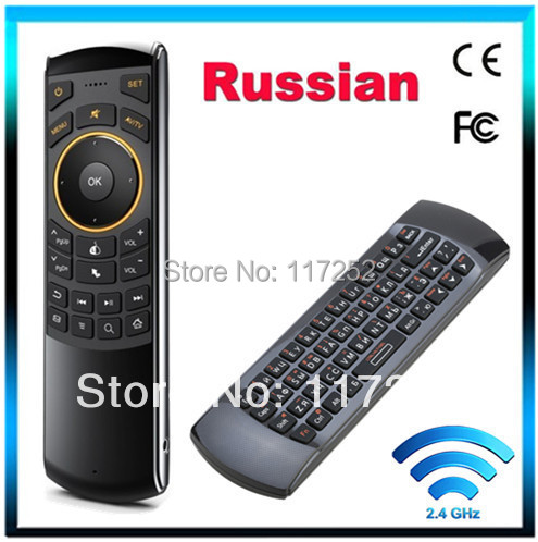 Russian Keyboard Rii i25 K25 Fly Air Mouse 2.4Ghz Wireless Keyboard Combos Remote Controller FOR Android TV mini PC Tablet PC(China (Mainland))