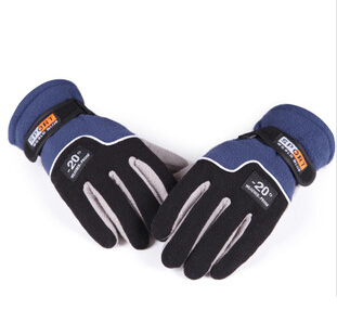 Outdoor Sports 1 Pair Men's Winter Fleece Gloves Thermal Insulated Warm Colors One Size Fit - Shenzhen First Market Fashion Store store
