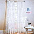 Sheer Window Curtains Special Pastoral Floral Tulle Voile Door Scarf Valances Drape