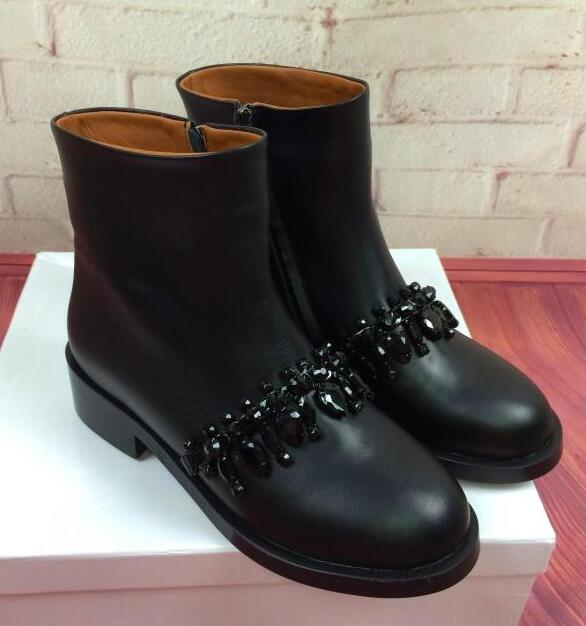 Black and Gold Flat Boots Promotion-Shop for Promotional Black and ...