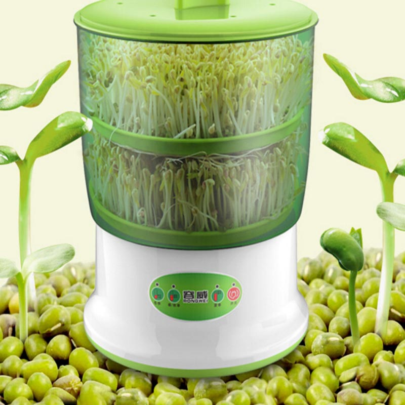 Здесь можно купить  Double Layer Bean Sprout Machine Microcomputer Intelligent Fully Automatic Bean Sprouts Maker Free Shipping Cooking Appliances  Бытовая техника