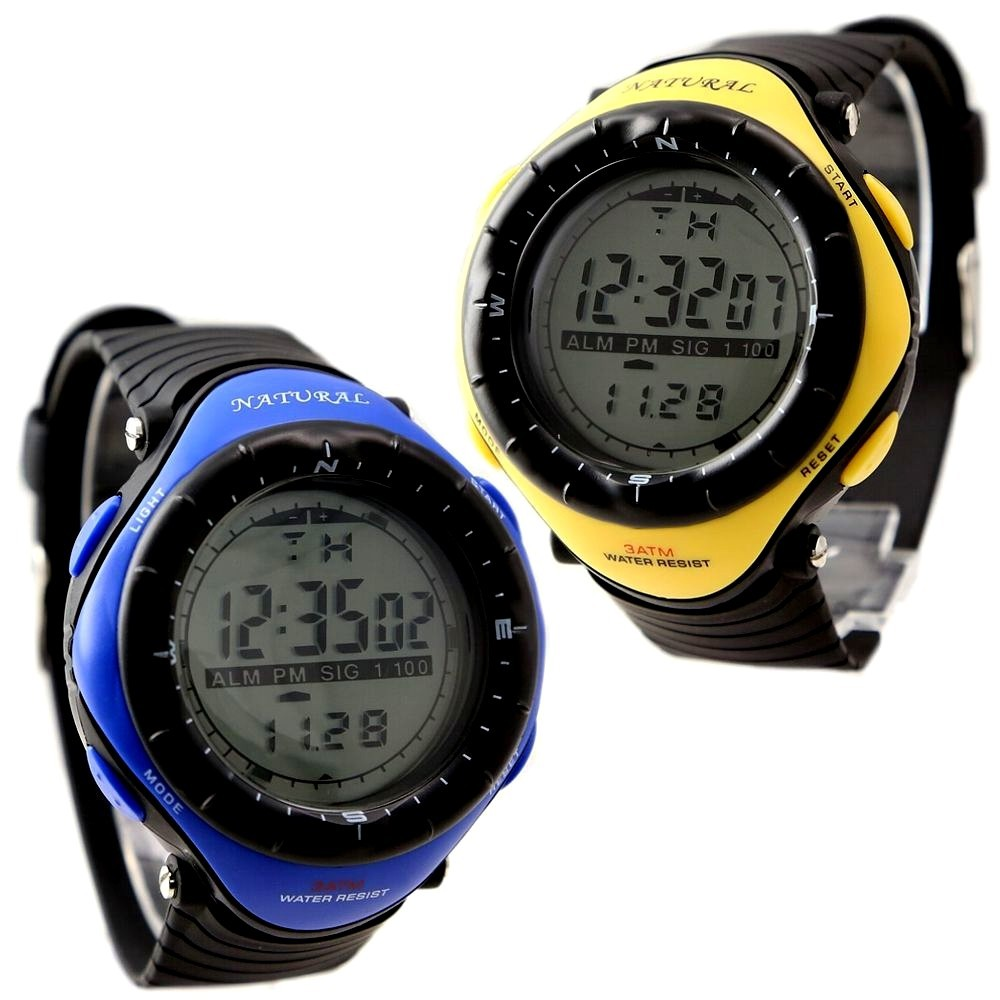 10PCS./Lots WSDW003 Yellow  &amp; Bue Color Sport Digital Fitness,Swimming, Big Dial Easy to see the time, Smart, Elegant, Fashion<br><br>Aliexpress
