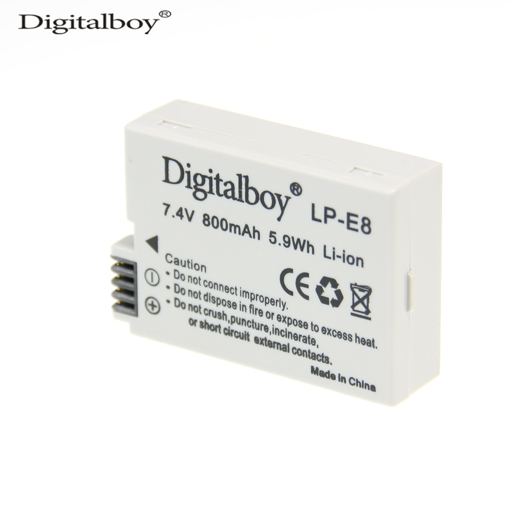Real Capacity 800mah Lp E8 Lpe8 Camera Battery For Canon Eos Li Ion Charger Circuit Balancing Attiny26 Lcd Lipo 550d 600d 650d 700d Kiss X4 X5 X6i X7i Rebel T2i T3i T4i T5i