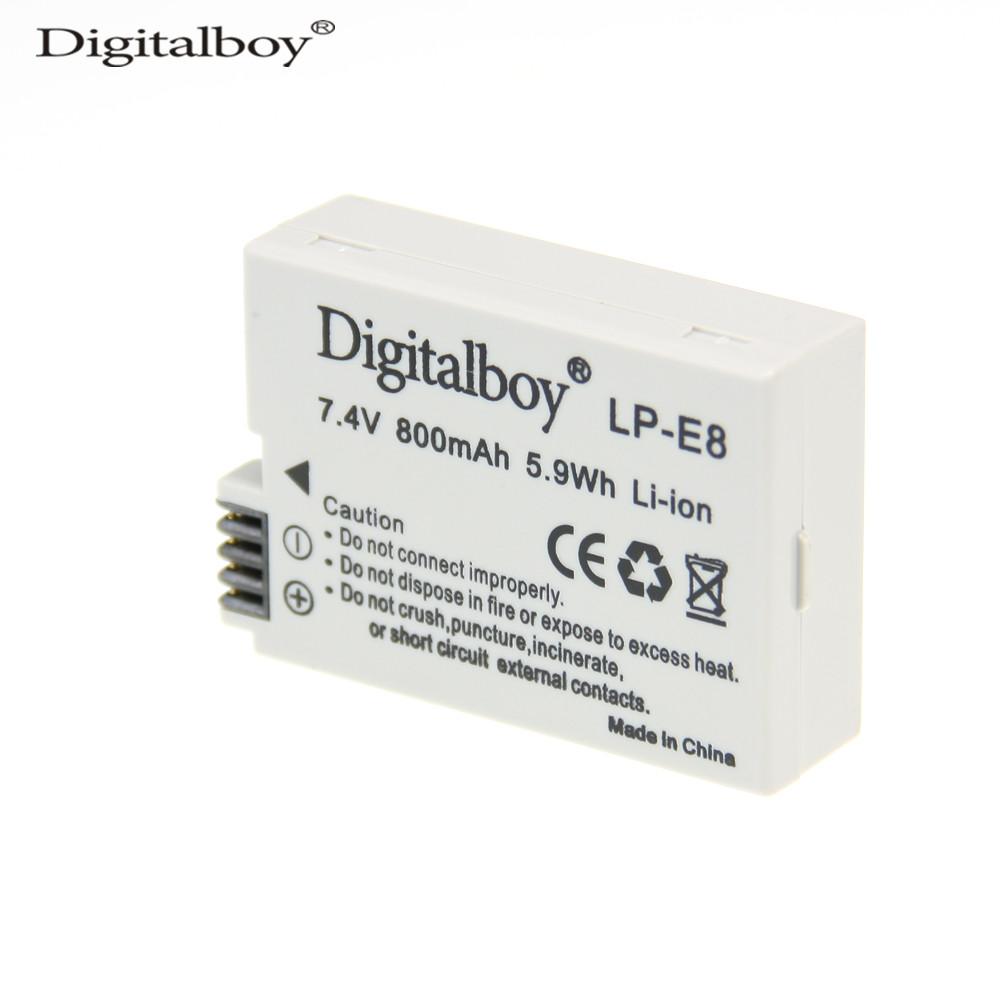 Real Capacity 800mah Lp E8 Lpe8 Camera Battery For Canon Eos Lithium 550d 600d 650d 700d Kiss X4 X5 X6i X7i Rebel T2i T3i T4i T5i
