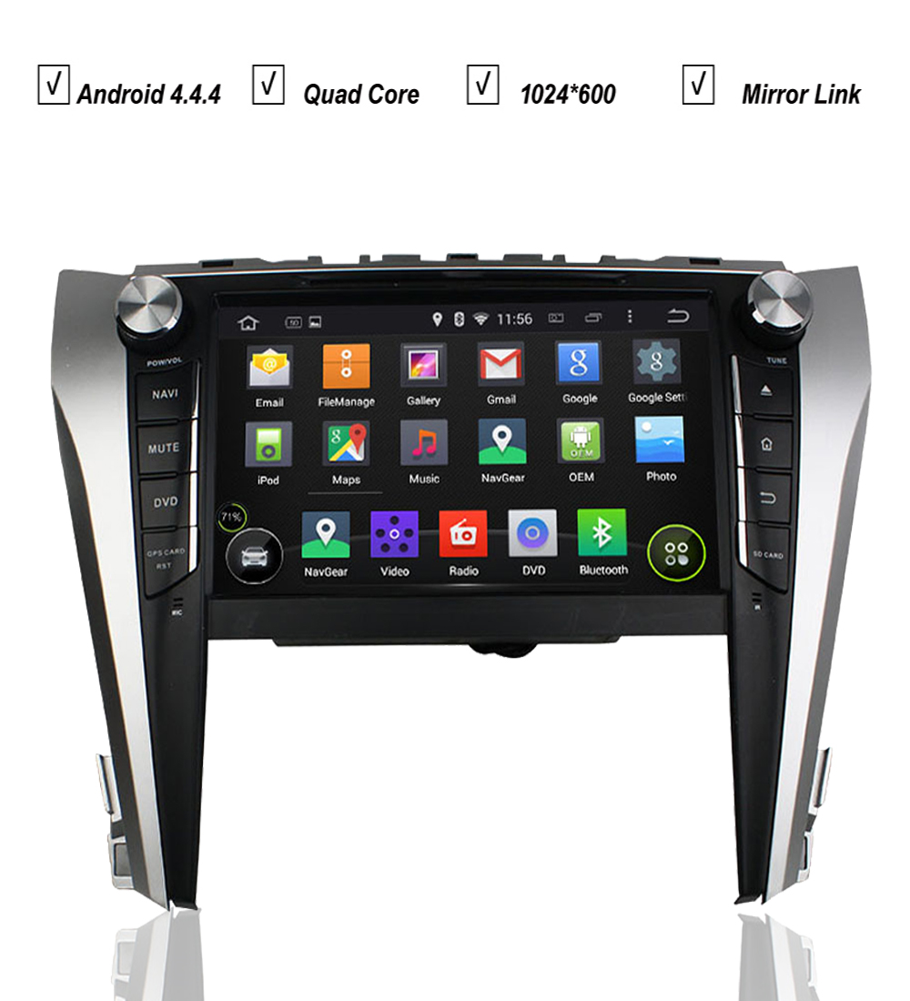 9'Car Quad Core Android 5.1 GPS For Toyota Camry 2015 Car dvd multimedia Stereo RK3188 8GB MAP Radio RDS Mirrow Link DVR BT USB(Hong Kong)