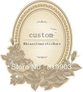 custom Rhinestone stickers  heat transfer print with artifical diamond
