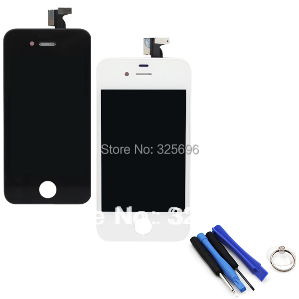 1x For Apple iPhone 4 4G LCD Display Touch Screen digitizer + Bezel Frame w/ Tools Replacement Assembly black or white(China (Mainland))