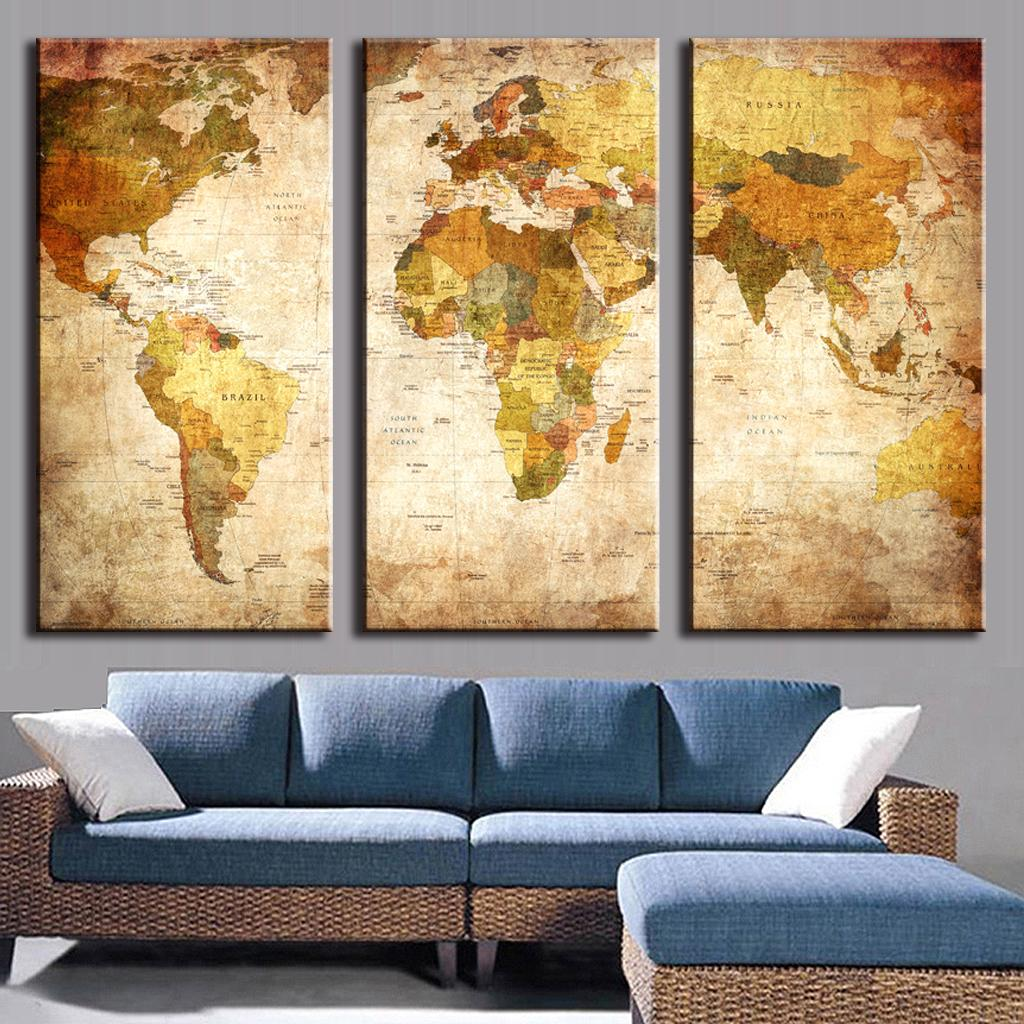 Canvas World Map Chinese Goods Catalog