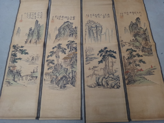 The traditional Chinese painting central scroll painting household adornment picture mountain 537(China (Mainland))