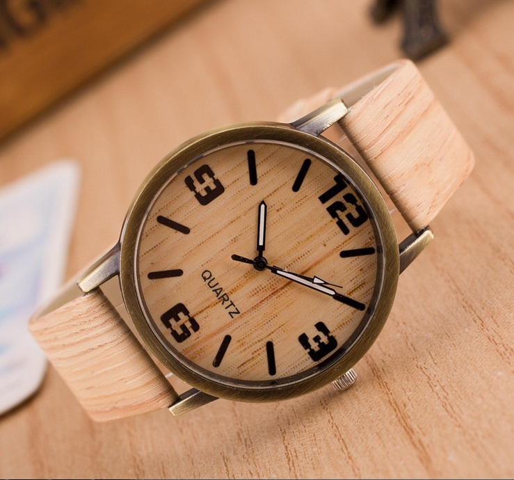 Fashion Unisex Watches Wood Style Quartz Wild Simple Icon Wristwatches Lovers' Gift 1669  -  Coolcastle store