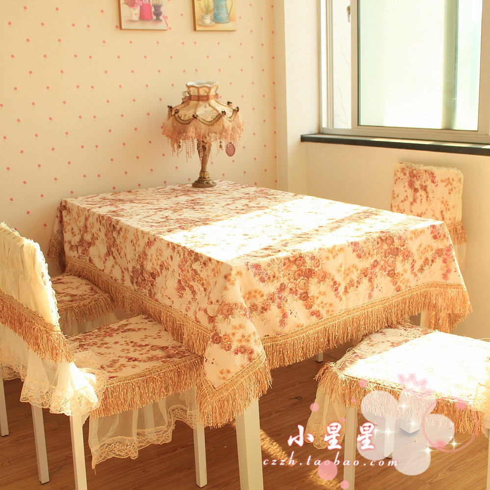 2016 Home Manteles Tablecloth Christmas Mantel Top Fashion Sale Ou Dining Table 100% Fabric Rustic Rose Chair Cushion Piece Set(China (Mainland))