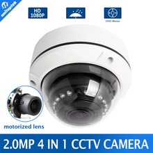 Buy 2MP AHD Camera 1080P Motorized Lens 4x Zoom 4 IN 1 AHD/CVI/TVI/CVBS Dome Camera Security CCTV Camera,With Dial Switch OSD Menu for $47.99 in AliExpress store