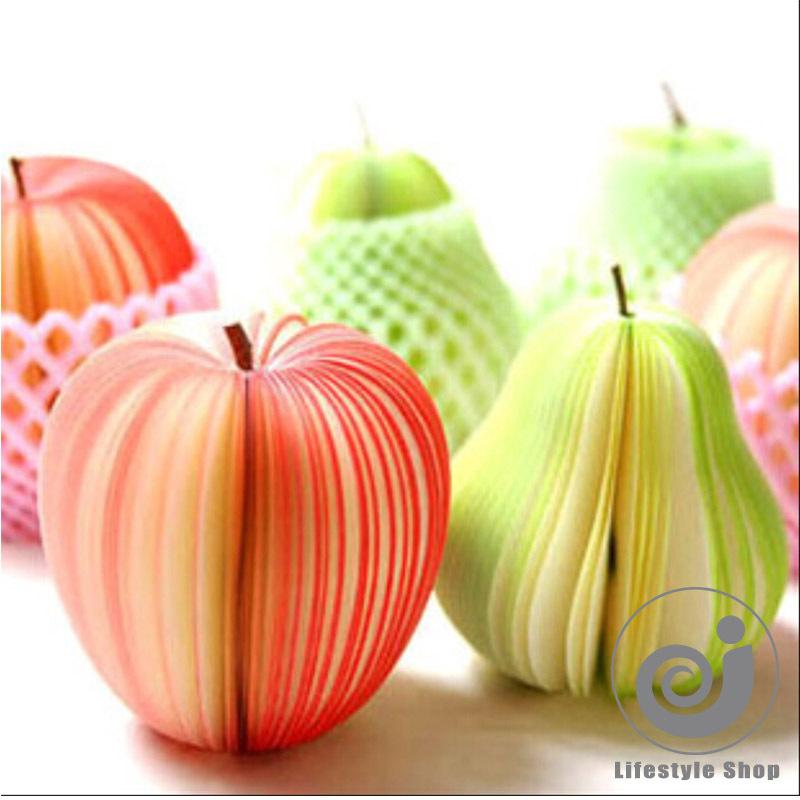2pcs/lot kawaii fruit apple memo pad pater notepad papelaria material escolar stationery school supplies<br><br>Aliexpress