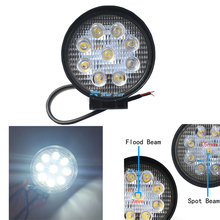 2pcs 4 Inch 27W LED Work Light Bar for Indicators Motorcycle Driving Offroad Boat Car Tractor Truck 4x4 SUV ATV Flood 12V 24V(China (Mainland))