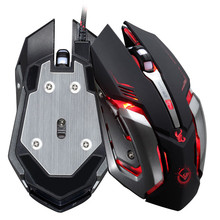 Rajfoo Gaming Mouse Ajustable 3200 DPI 6 Buttons Optical High-grade USB Wired Game Mouse Gamer 4 Color Breathing Variable Light(China (Mainland))