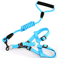 7 Colors Pet Dog Nylon Leashes Harnesses Set For Small Medium Large Dogs Sturdy and Durable