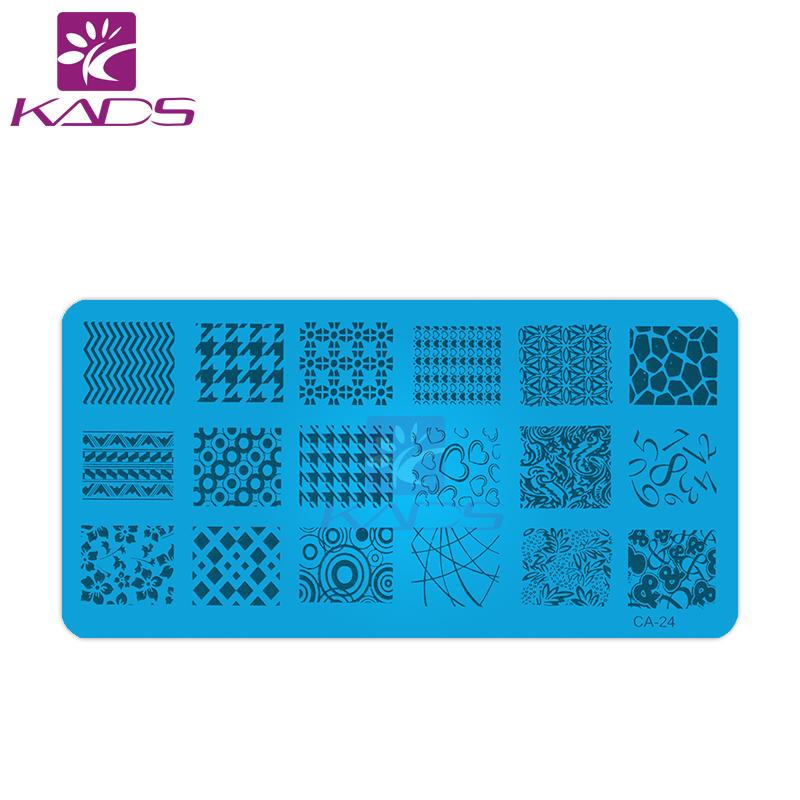 KADS Lace Digital Signals Design Freeshipping New Konad Nail Art Image Plate Nail Template Nail Beauty Stamper Nail Decoration(China (Mainland))