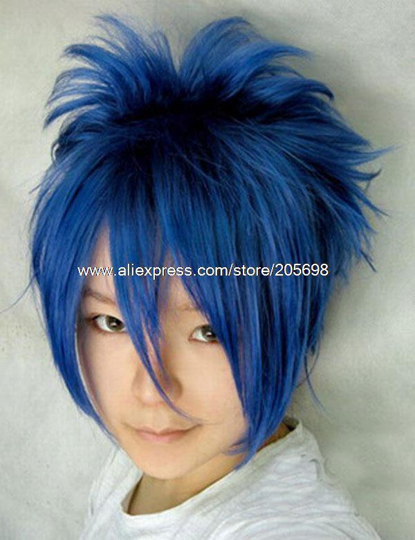Гаджет  Vocaloid Kaito Cyaneous Short Wig anime halloween christmas Free Shipping None Изготовление под заказ