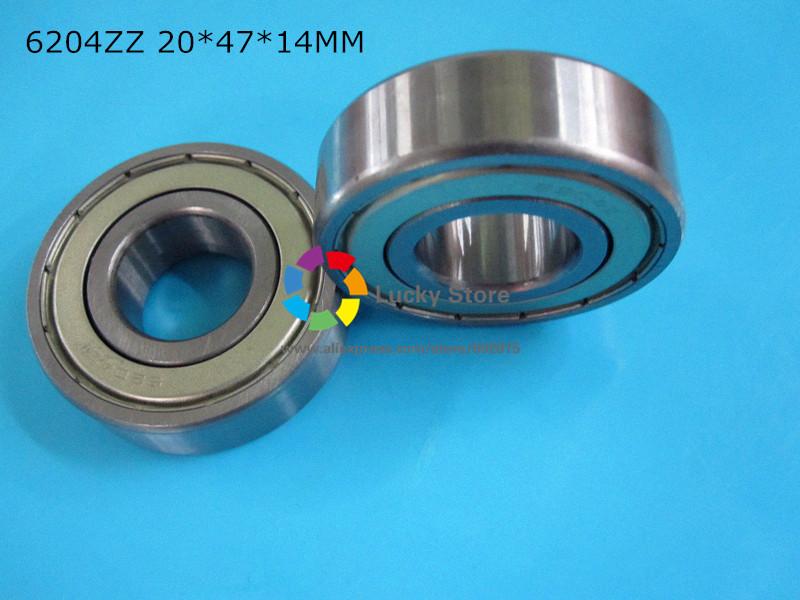 6204ZZ 1 Piece bearing metal sealing bearings Free shipping 6204 6204Z 6204ZZ 20*47*14mm CHROME STEEL DEEP GROOVE BEARING(China (Mainland))