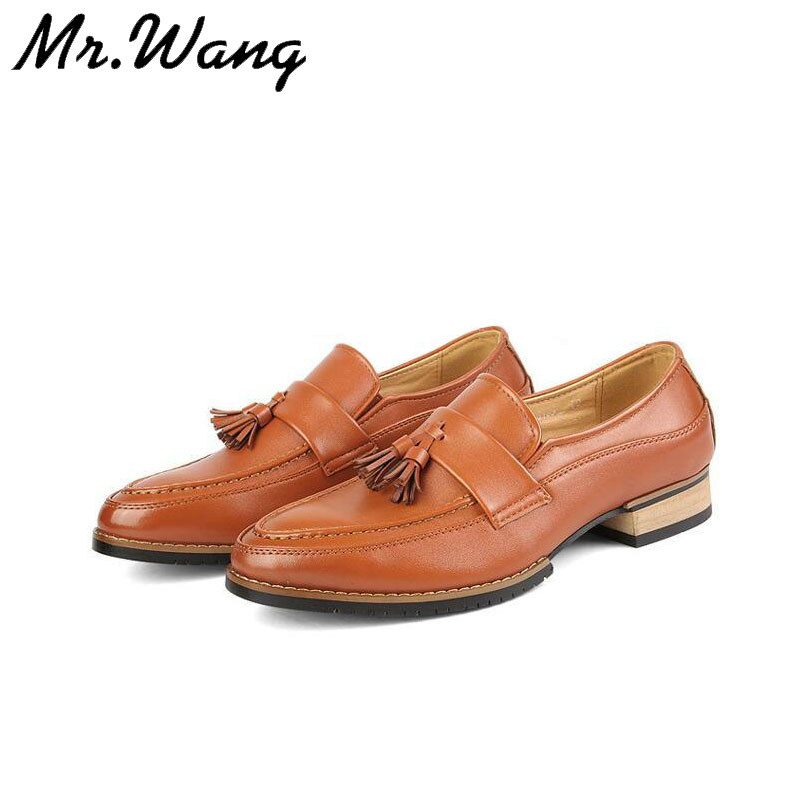 British Fashion Mens leather shoes Male casual flats shoes Genuine Leather pointed toe dress shoes  for men 38-43 F-04<br><br>Aliexpress