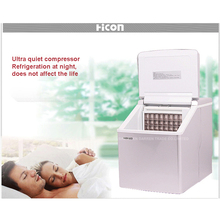 Free DHL 1pc HZB-13F 20kgs/24H Portable Automatic ice Maker, Household ice cube make machine for home use, bar, coffee shop