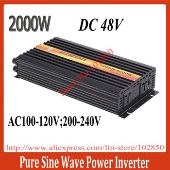 DC48V,AC220v 50Hz or 110v 60Hz,2000w pure sine wave inverter