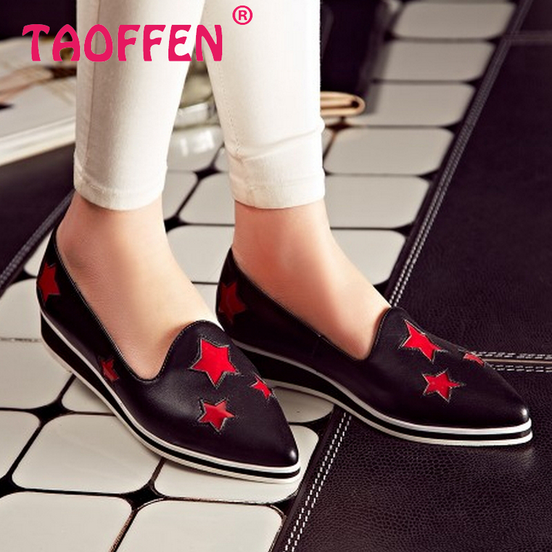 women real genuine leather party casual flats leisure shoes sexy fashion brand ladies shoes Zapatos Mujer size 33-43 R5948<br><br>Aliexpress