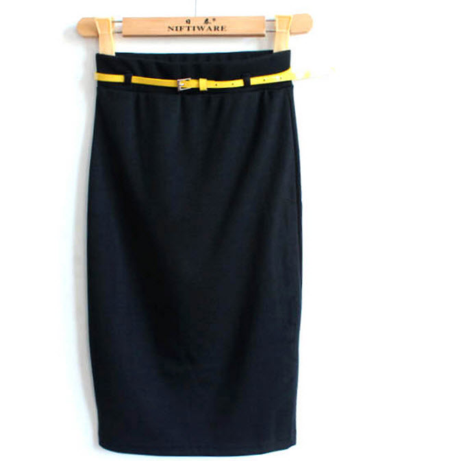 1pc Stylish Solid Pencil Skirts Sliming women - Tina huang's Store 823812 store