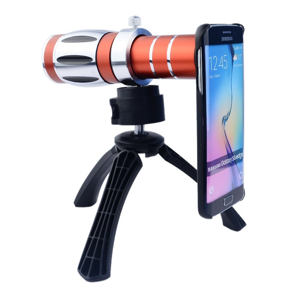 Mobile Phone Universal 20x Camera Zoom Optical Telescope Aluminum Telephoto Lens Kit Tripod For iPhone Samsung HTC Blackberry(China (Mainland))